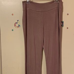 Khaki Fitted Flare Pants